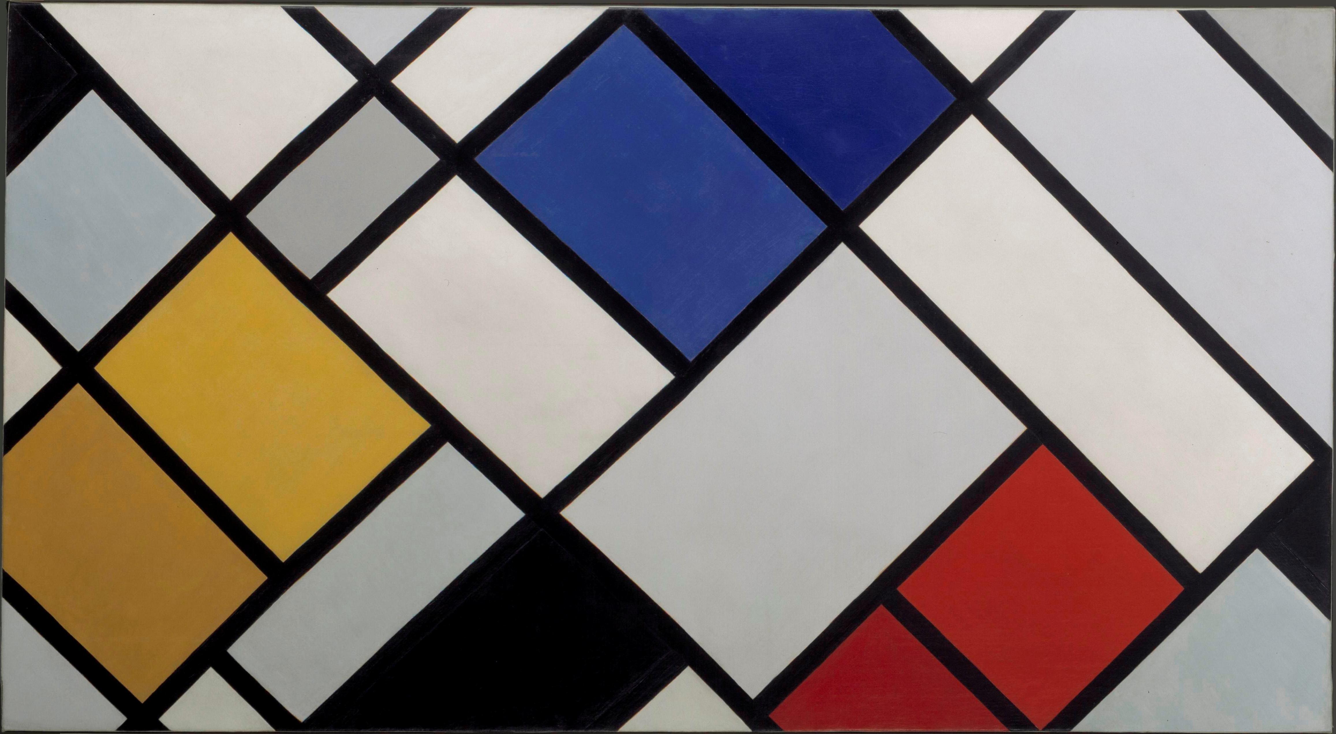 Design Fads De Stijl At Pompidou Piet Mondrian Amp Theo Van Doesburg